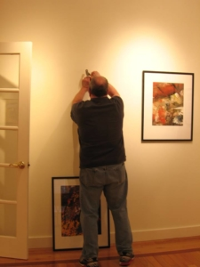 Hanging a show