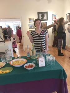 Serving Refreshments at an art opening