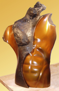 A bronze sculpture by Jack Shaw from the Linda Vivas & Jack Shaw 2015 show.