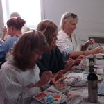 Tea for Two Mothers' Day tea cup painting class