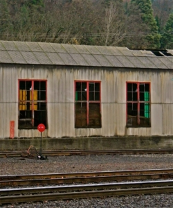 Old Railroad Building. Photo by Blaise Barnes.