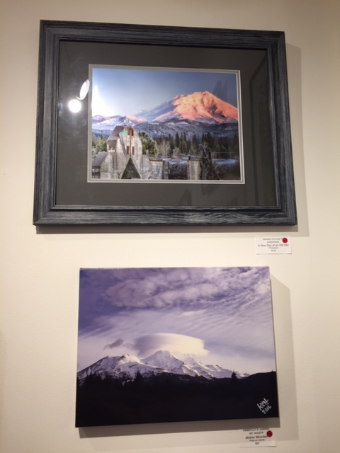 "These two photos, and one by Don Lewing, have sold from the ""Scenes of Siskiyou County"" show. Shown above is ""A New Day at an Old Site"" by Marnie Patchett (top) and ""Mother Mountain"" by Kim Harper."