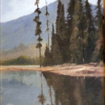 Pines at the Lake by Victor Medrano